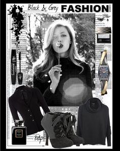 """Black & Grey"" by bdpotena on Polyvore"