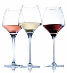 Verre de vin blanc de Saint-Pourçain_verre de vins rouge de saint pourçain et verre de vin rosé de saint-Pourcain.