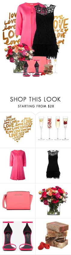 """""""love yourself first"""" by kiera-van-witte ❤ liked on Polyvore featuring LSA International, P.A.R.O.S.H., Lipsy, MICHAEL Michael Kors, Lux-Art Silks and Yves Saint Laurent"""