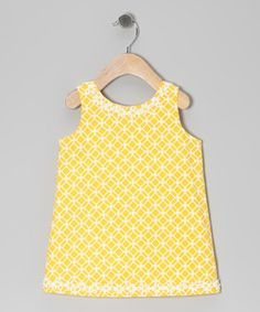 Take a look at this Yellow Haydi Dress - Infant & Toddler by Baby London Victoria on #zulily today!