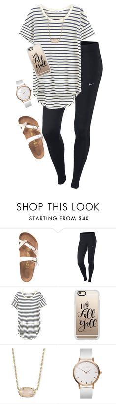 """My First Polyvore Outfit"" by audreygdykhoff ❤ liked on Polyvore featuring Birkenstock, NIKE, Splendid, Casetify and Kendra Scott"