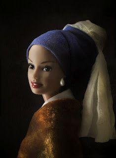 Barbie in Fine Art -- Vermeer's Girl with a Pearl Earring