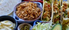 Mexican Chicken Tacos - The 4 Blades Mexican Chicken Tacos, Beef Fajitas, Looking For A Recipe, Slow Cooked Beef, Easy Family Meals, Cooking Time, Guacamole, Slow Cooker, Ethnic Recipes