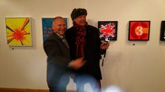 With Pete Griffiths from '77 punk band The Spitfire Boys - Punk ~ The Transatlantic Paintings - Nov 7 - Nov 17 at The Gallery Liverpool ~ Chris Billington #artofpunk #art #punk