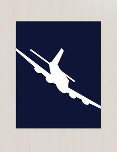 Vintage Aviation Airplane War Plane  Color Print  by littleredflag