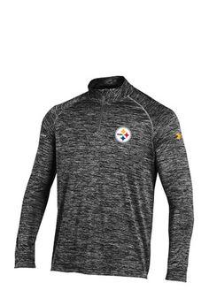 Under Armour Pitt Steelers Mens Black NFL Combine Authentic 1/4 Zip Performance Pullover