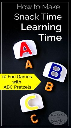 Literacy games that kids can play with ABC pretzels. Games range from letter recognition to sight words and spelling.