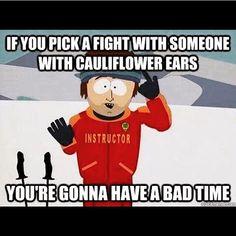 Tag someone with cauliflower ear!
