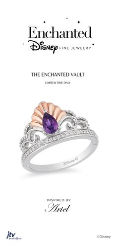 Channel your inner Disney princess any day in any way. Check out our grand assortment of Enchanted Disney Fine Jewelry. Disney Princess Jewelry, Disney Jewelry, Disney Enchanted Jewelry, Disney Rings, Tiara Ring, Love Ring, Purple Amethyst, Jewelry Collection, Jewlery