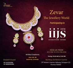 21 best zevar the jewellery world images on pinterest shine like the whole universe is yours zever world is showcasing their exclusive collection at iijs signature show from 9th 12th feb stopboris Gallery