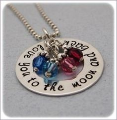 I Love you to the Moon and back.  My new necklace!