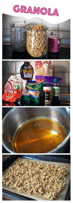 Crunchy Granola - Frisches geröstetes Müsli - super schnell und super lecker!