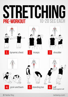 Pre-Workout Stretching fitness, workout, exercise, routine, training