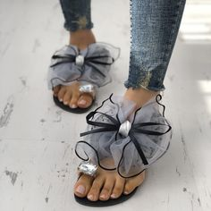 d5ec034795be Black Summer Sandals Open Toe Flats with Lace Bow for School