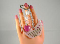 Schlüsselanhänger, Taschenanhänger, Taschenbaumler, Schutzengel , Muttertag Geschenk, personalisierbar, Anhänger Herz, Anhänger Flügel, pink von RSSchmuckwelt auf Etsy