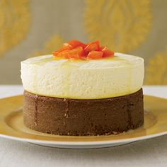 This clever recipe combines two cakes in one: gingerbread and cheesecake. The cheesecake half is light and creamy, with a pleasant tang from quark (a ...