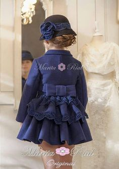 Dresses ruffled, bowes, florets, puff sleeves and hats! Toddler Dress, Toddler Outfits, Baby Dress, Toddler Girl, Girl Outfits, Little Girl Fashion, Kids Fashion, Little Girl Dresses, Girls Dresses