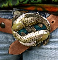 koi belt (Ouroboros with fishes, love it!)
