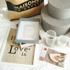 « Un p'tit tour chez @maisonsdumonde ça donne ça... #instadeco #mydeco #decoration #shopping #newin #bedroomdecor #homesweethome #cocooning #sweetness #grey… »