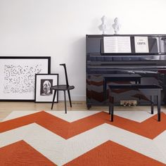 Buy Made You Look-Tangerine carpet tile by FLOR  FLOR has a great selection of carpets that are customized to your space and are very reasonably priced.