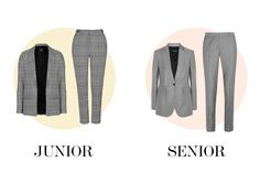 Together or apart, buying a great-fitting suit is one of the best things you can do for your career.* *I sound like the Men's WearHouse guy, don't I?Topshop jacket, $110, topshop.com; Topshop cigarette pants, $75, topshop.com.Joseph wool blazer, $815, net-a-porter.com; Joseph wool pants, $310, net-a-porter.com.
