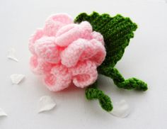 Hand Crochet Corsage Brooch Pink Rose Flower by CraftsbySigita,   http://www.etsy.com/shop/CraftsbySigita