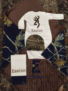 A personal favorite from my etsy shop httpsetsylisting baby boy coming home outfit real tree camo and navy blue mossy oak home coming gift set blanket layette burp cloth hat negle Image collections