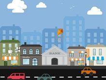 Cartoon Street Building Vector Picture [AI]