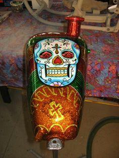 Sweet sugar skull paint job. Love this
