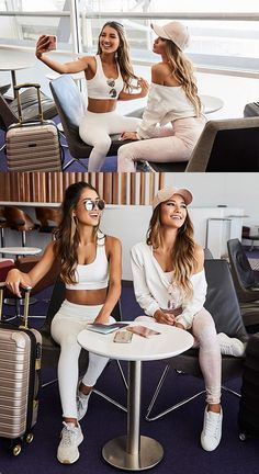 Super comfy AND super stylish, our newest range of active wear will have you travelling in comfort and style. Source by dilber_sardas wear women Sporty Outfits, Fall Outfits, Cute Outfits, Athleisure Trend, Plane Outfit, Summer Airport Outfit, Comfy Airport Outfit, Airport Travel Outfits, Shooting Photo Amis