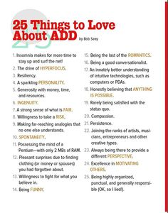 25 Things to Love About ADD