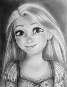 Rapunzel... oh my gosh those eyes are SO perfect! I need to learn how to draw those!