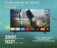 HISENSE 50AE7000F TV LED 4K UHD 127 cm pas cher - 🤩Découvrir ici : #Hisense #CDiscount #Televiseur127cm #TeleviseurHisense #TeleviseurCdiscount #TVpascher #TV #CdiscountTV