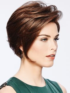 Take a look at this stylish choice by Eva Gabor Wigs. Sheer Elegance features a Lace Front wig cap for styling versatility and an open wefted top for comfort. Short Hairstyles For Thick Hair, Haircut For Thick Hair, Pixie Haircut, Short Hair Cuts, Short Hair Styles, Short Hair Drawing, Gabor Wigs, Haircut For Older Women, Short Wigs