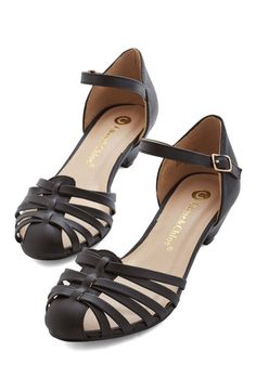Strappy as Can Be Heel in Black. You couldnt be happier now that youve found a pair of shoes as adorable as these black heels! #black #modcloth