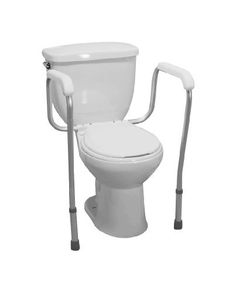 Drive Medical toilet safety frame rail -- Click the VISIT button for detailed description http://www.amazon.com/gp/product/B000NCGE0U/?tag=buyamazon04b-20&pmx=260217101951