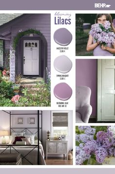 Looking to add a subtle pop of color to your home this summer? Find inspiration for your next DIY home makeover project with Behr Paint in Ancestry Violet, Spring Bouquet, and Blooming Lilac. Click below to learn more.