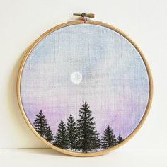 - Soirée d'été - Pièce unique ❤ . [Sold out / vendu ] Available on my etsy shop : Delphilembroidery . . . . . . . . . . . . . #firs #sapins #aquarelle #watercolor #watercolorart #foret #forest #nature #overwork #hoopembroidery #hoopart #draw #dessin #handembroidery #embroidery #embroideryart #broderie #broderiemain #handmade #faitmain #brodeuse #embroidered #bordado #madeinfrance #delphil #tatoueusedetissu© #modernembroidery #contemporaryembroidery #embroideryinstaguild #embroiderylove
