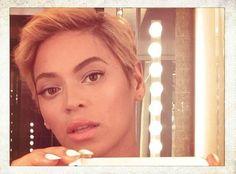 Beyoncé rocks a new super short haircut: a pixie! #hair #pixie #2013 #beyonce