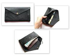 black leather purse by klerovski