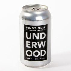 Packaging d'une canette de vin Undewood.
