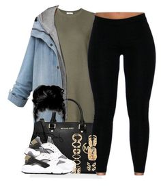 """""""Untitled #60"""" by trapanese-kids ❤ liked on Polyvore featuring 321, MICHAEL Michael Kors, NIKE and Forever 21"""