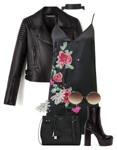 """""""*black like my soul*"""" by emilia-love-life ❤ liked on Polyvore featuring WithChic, Vetements, Yves Saint Laurent, Linda Farrow and Fallon"""