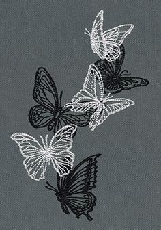 Flight & Dark Butterflies - Cascade | Urban Threads: Unique and Awesome Embroidery Designs