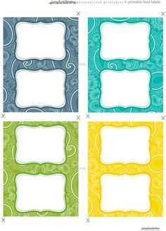 Free food label printables in gorgeous paisley designs!