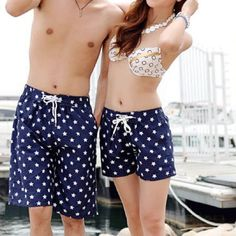 Best Price Couple Stylish Ladies Quick-drying Shorts Stars Pattern Summer Shorts  #Affiliate