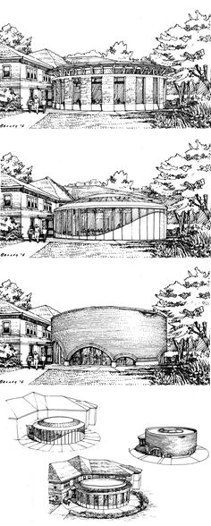 One day collaborative charrette session.  Drawings by Bruce Bondy, Bondy Studio.