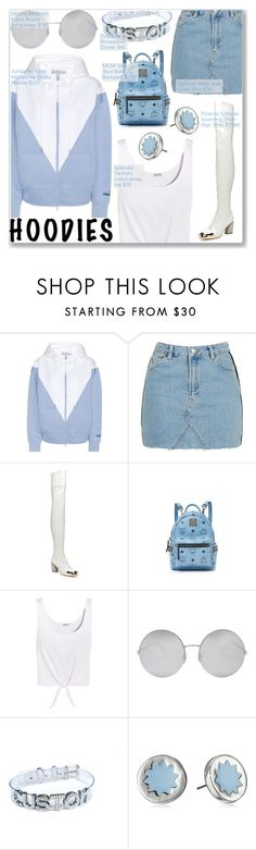 """""""I'm never gonna be that girl Who's living in a Barbie world Could wake up in make up and play dumb Pretending that I need a boy Who's gonna treat me like a toy"""" by nindi-wijaya ❤ liked on Polyvore featuring adidas, Topshop, Proenza Schouler, MCM, Splendid, Victoria Beckham and House of Harlow 1960"""