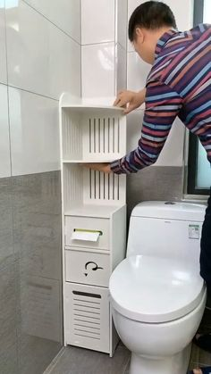 Small Bathroom Storage, Bathroom Organisation, Small Narrow Bathroom, Small Vanity, Toilet Storage, Small Storage, Shoe Storage, Organization Ideas, Storage Spaces