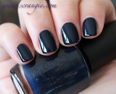 Incognito in Sausalito OPI You better keep this almost-black blue under wraps.